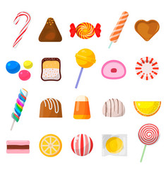 sweet candy icon set vector image vector image