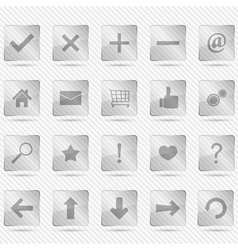 Transparent glass icons vector image vector image