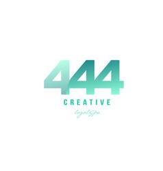 444 green pastel gradient number numeral digit vector