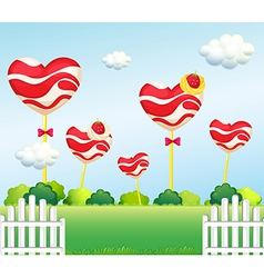 A garden full lollipops vector