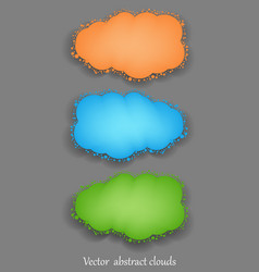 Abstract clouds vector