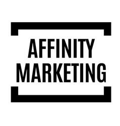 affinity marketing black stamp vector image