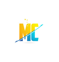 Alphabet letter mc m c combination for logo vector