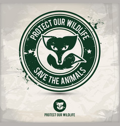 alternative eco friendly wildlife stamp vector image