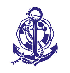 anchor symbolt isolated on vector image