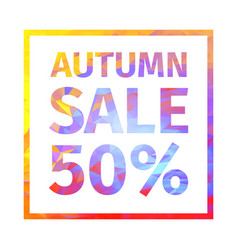 Autumn sale 50 percent banner vector