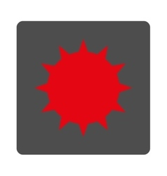 Bacterium Rounded Square Button vector