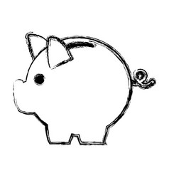 Banking piggy concept safety money financial icon vector