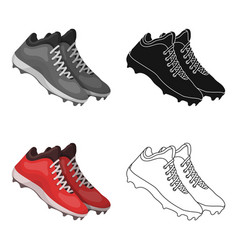 Baseball sneakers baseball single icon in cartoon vector