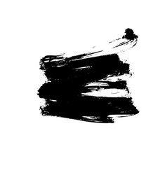 black paint ink brush stroke or shape vector image