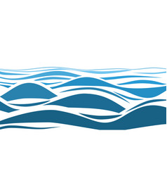 Blue water sea waves abstract background vector