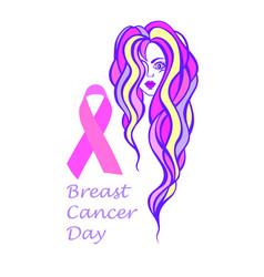 breast cancer diagram vector image