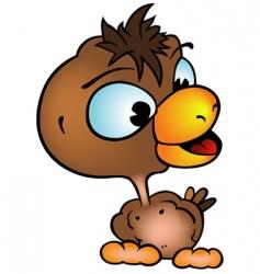 brown chicken vector image