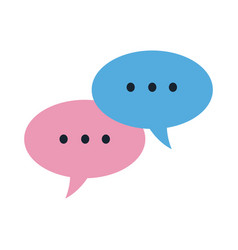 bubble speech chat message communication concept vector image