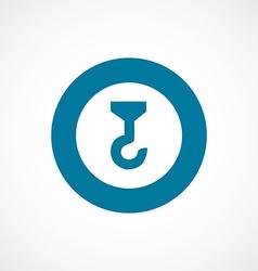 Building crane bold blue border circle icon vector