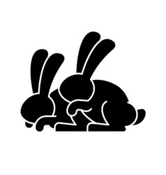 bunny sex rabbit intercourse hares isolated vector image