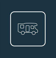 Campervan icon line symbol premium quality vector