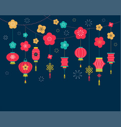 Chinese new year background card print banner vector