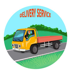 city truck with driver vector image