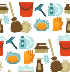 cleaning service tools and instruments seamless vector image