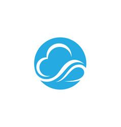 Cloud technology logo template design vector