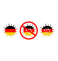 Coronavirus in germany berlin isolated vector