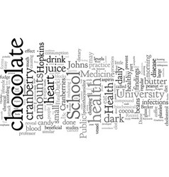 Cranberry juice and dark chocolate two easy ways vector