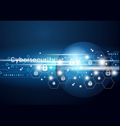 cybersecurity and global network vector image