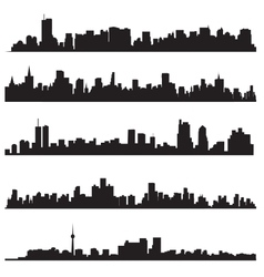 Detailed silhouettes of world cities vector