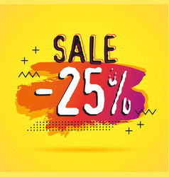 discount sale 25 banners template vector image