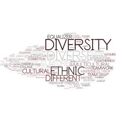 Diversity word cloud concept vector