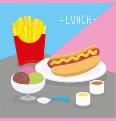 Food meal lunch dairy eat drink menu vector