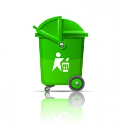 garbage can vector image vector image