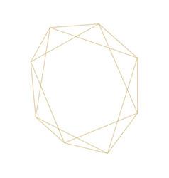 geometric frame ornament decoration line outline vector image