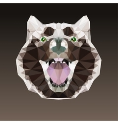 Geometric negative head of a dog vector image