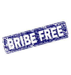 Grunge bribe free framed rounded rectangle stamp vector