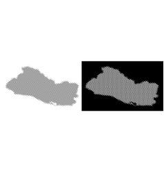 halftone el salvador map vector image