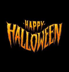 happy halloween horror typography vector image