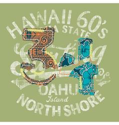 Hawaii surfing vector image