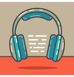 Headphones red vector image