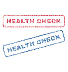 health check textile stamps vector image
