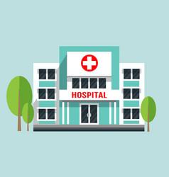 Hospital building flat vector