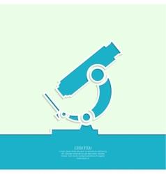 Icon microscope vector image