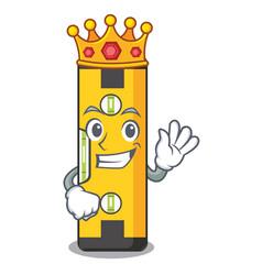 King spirit level in a cartoon bag vector