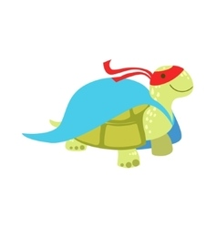 Land Turtle Animal Dressed As Superhero With A vector image