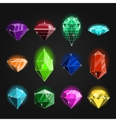 Large set of jewels vector image