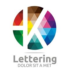 lettering k rainbow alphabet icon vector image vector image