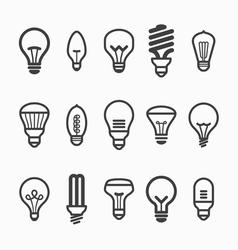 Light bulb icons vector