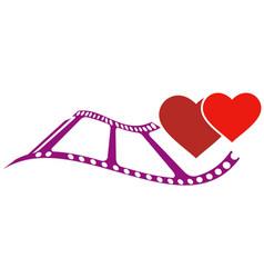 Love couple movie logo vector