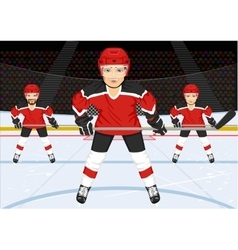 Male ice hockey team vector
